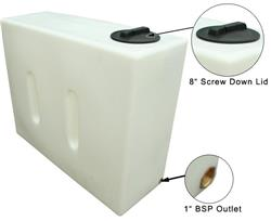 1050 Litre Baffled Water Tank